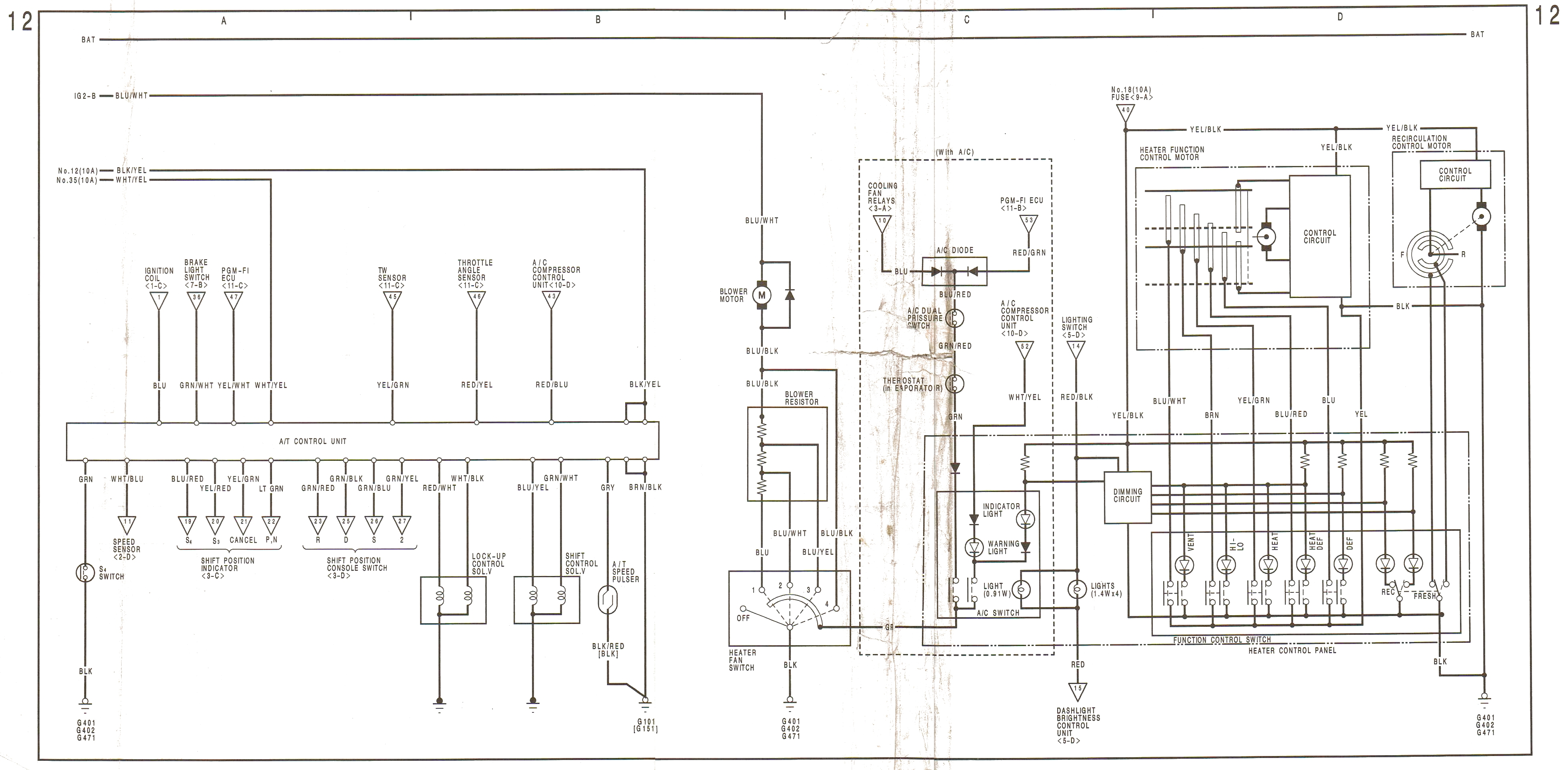 1996 honda civic lx fuse box diagram ford ranger wiring 1999 prelude and