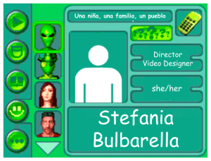 Performer card for Stefania Bulbarella