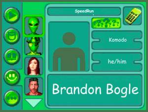 Performer card for Brandon Bogle