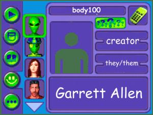 Performer card Creator Garrett Allen