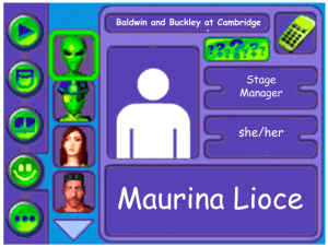 Performer card of Maurina Lioce, Stage manager