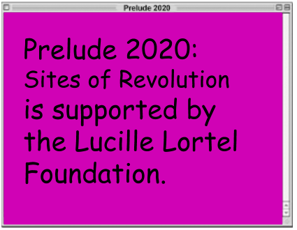 Sponsor Window: Prelude202 is supported by the Lucille Lortel Foundation
