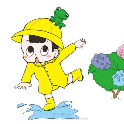 年間行事イラスト)6月)梅雨