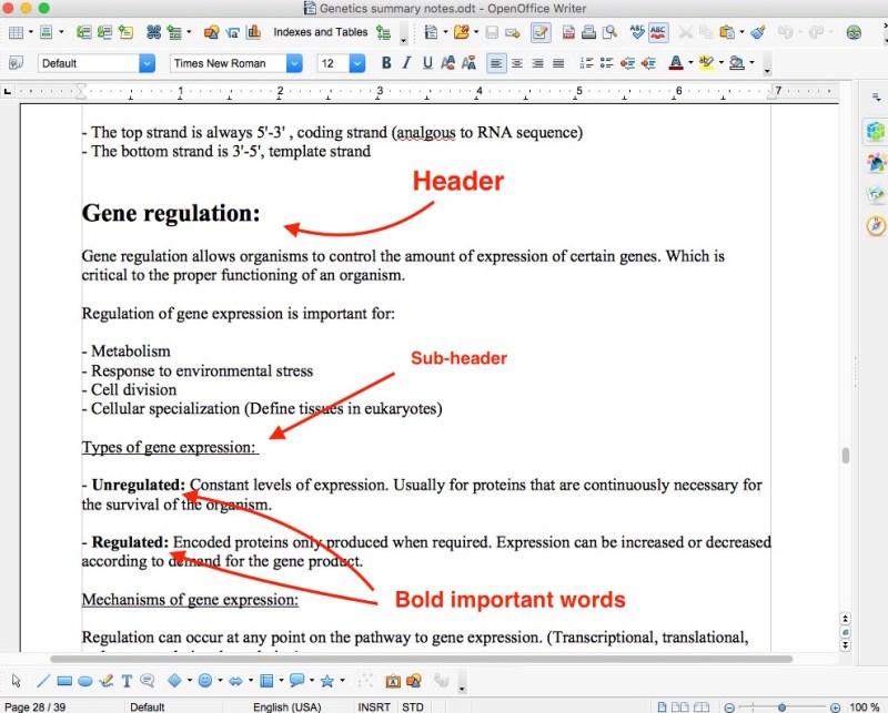 genetics biology summary notes