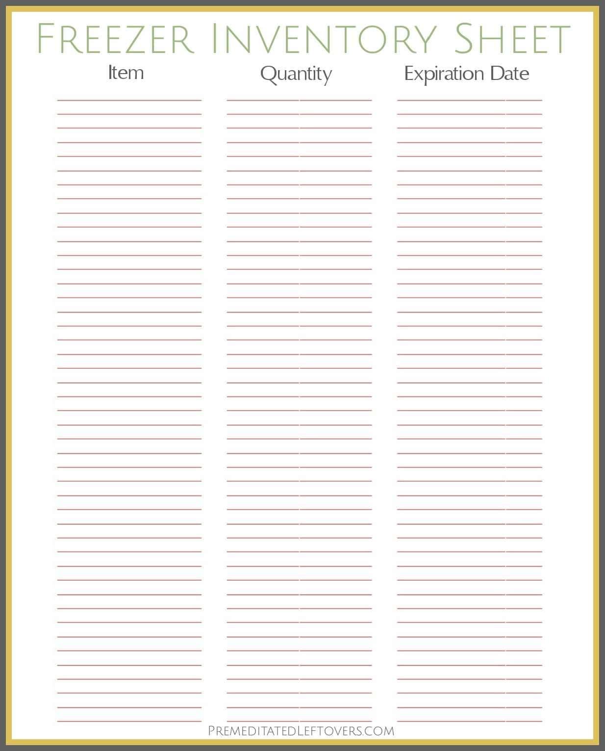 Menu And Grocery List Template