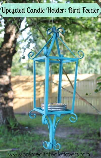 Diy Bird Feeder Stand How To Make A Bird Feeder Out Of An Upcycled Candle Holder