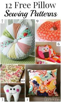 10 Free Pillow Patterns