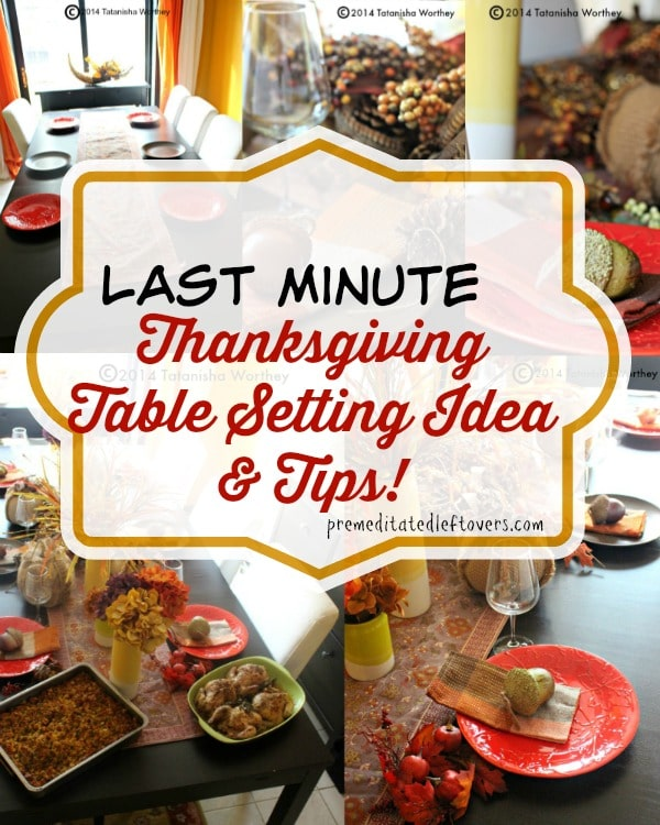 last minute thanksgiving table