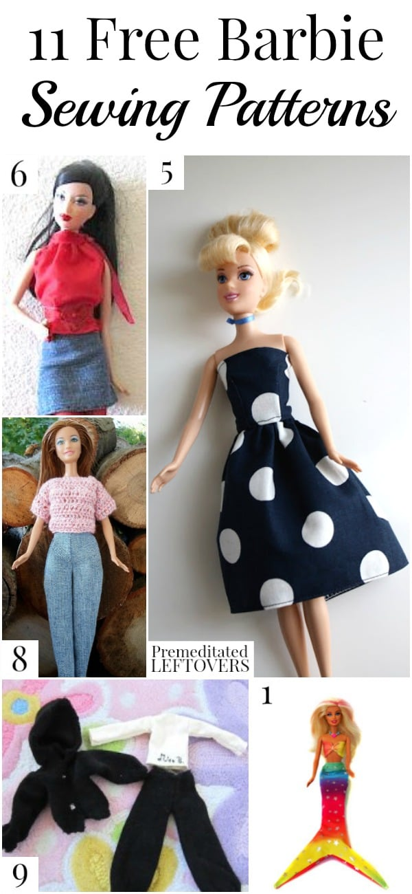Free Printable Barbie Clothes Sewing Patterns : printable, barbie, clothes, sewing, patterns, Barbie, Sewing, Patterns