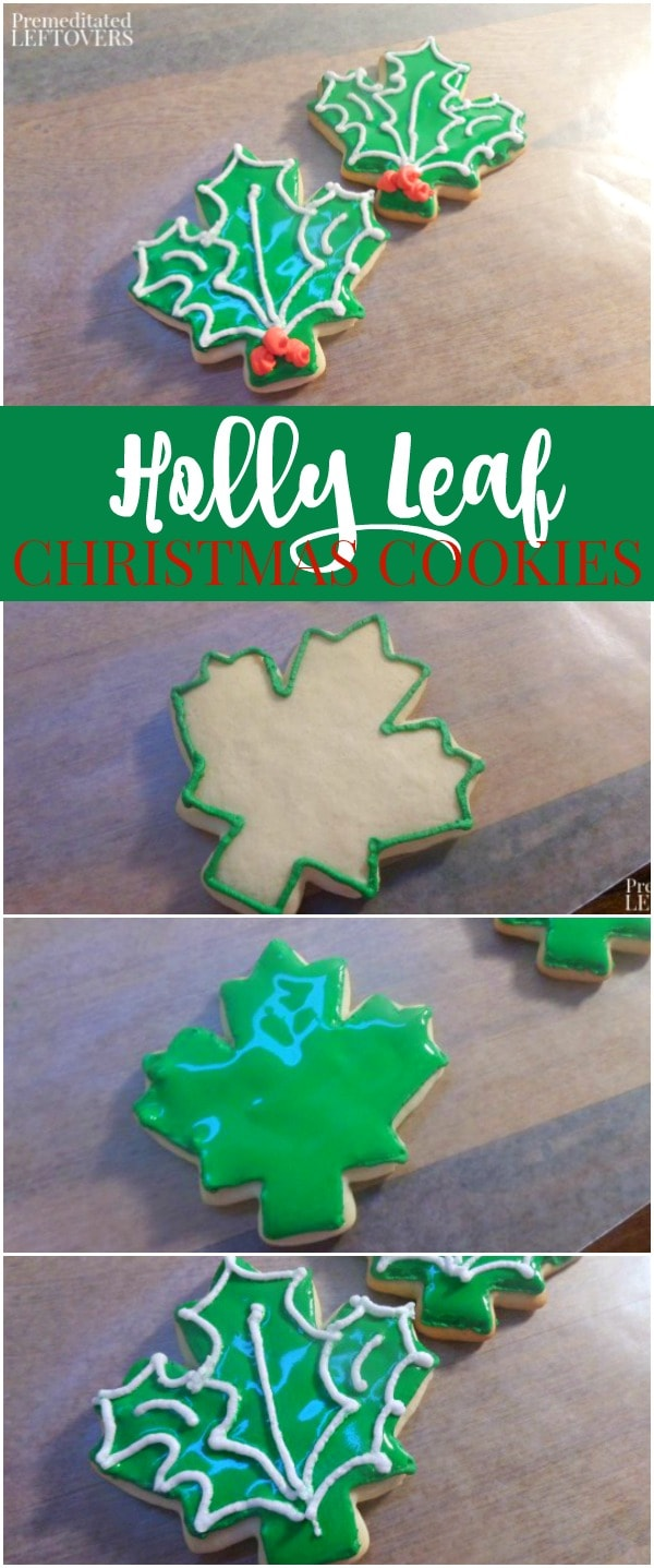 How to Make Holly Leaf Sugar Cookies Using Maple Leaf Cookie Cutters
