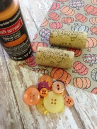 Frugal Fall Wine Cork Place Card Holder