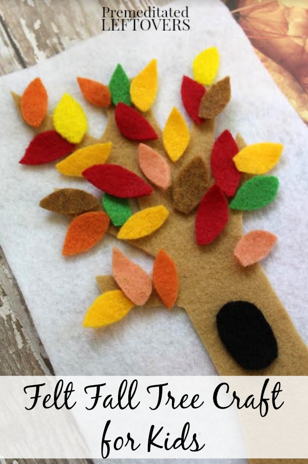 fall felt tree craft