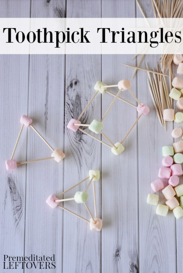 Toothpick Triangles Activity for Kids