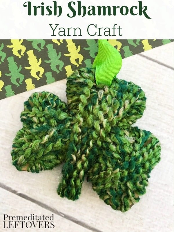 This Shamrock Yarn Craft is an easy and fun St. Patrick'c Day activity for kids! Yarn crafts are tons of fun and easy to make! This can also be used as a St. Patrick's Day decoration.