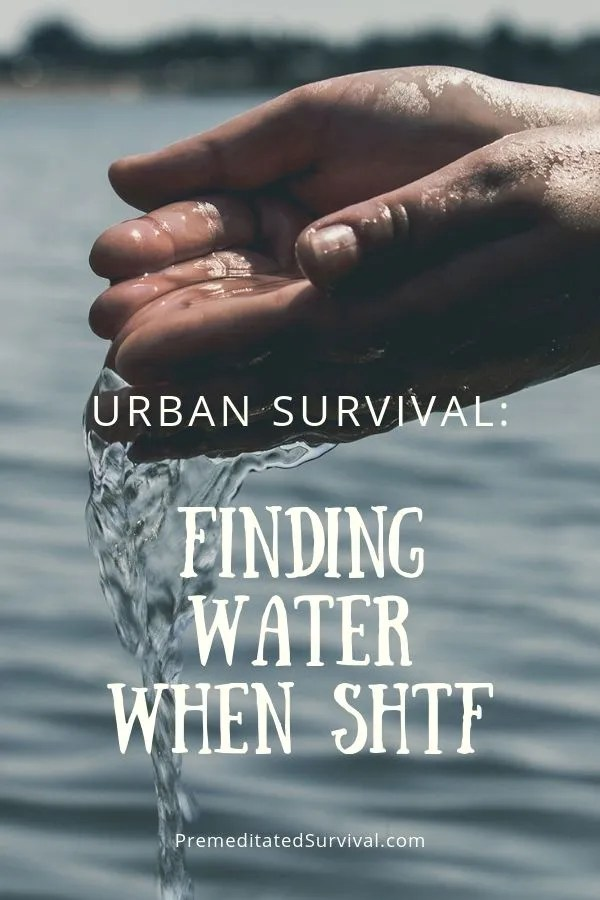urban survival finding water