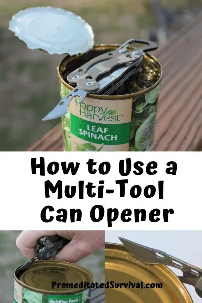 How to use multi tool can opener