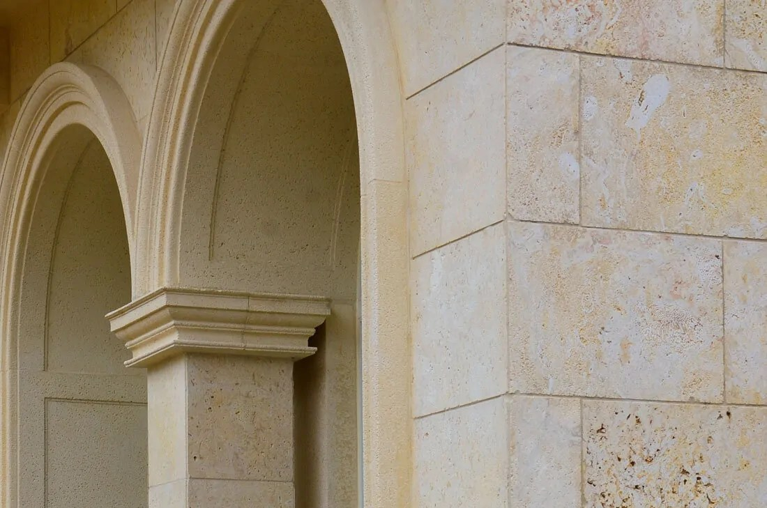 images of natural stone installed in