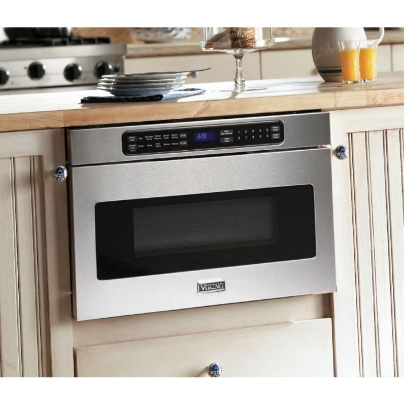 viking professional 5 series vmod5240ss 1 2 cu ft 1000w undercounter drawer built in microwave in stainless steel