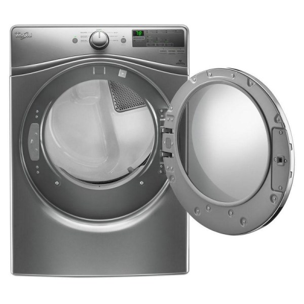Whirlpool Wgd85hefc 7.4 Cu. Ft. 120 Volt Stackable Chrome Shadow Gas Vented Dryer With Advanced