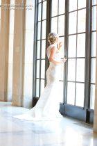 see-thru wedding gown