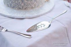 Wedding cake engraved knife Love is Sweet