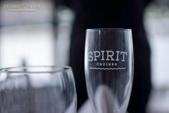 Spirit Cruises Engraved Champagne Glasses