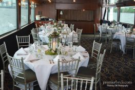 Gorgeous table setting with lantern centerpiece for wedding