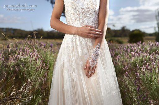 Bride with white henna