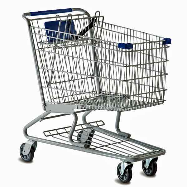 Model 2638 Medium Wire Metal Grocery Shopping Cart
