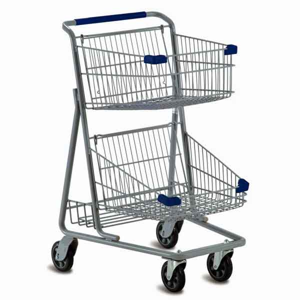 Model 5341 Two Basket Express Grocery Shopping Cart