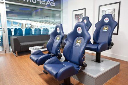 The EA SPORTS Gaming Box at Manchester City Football Club- Etihad Stadium