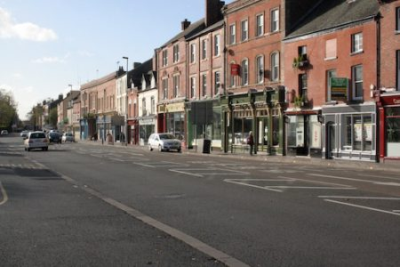 Inner Burton, the northern end of Burton's High Street