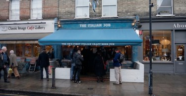 The Italian Job, Devonshire Road in Chiswick