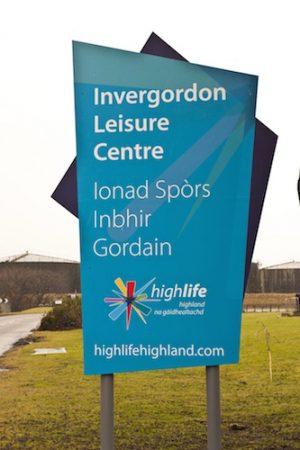 Academy Road in Invergordon, Invergordon Leisure Centre