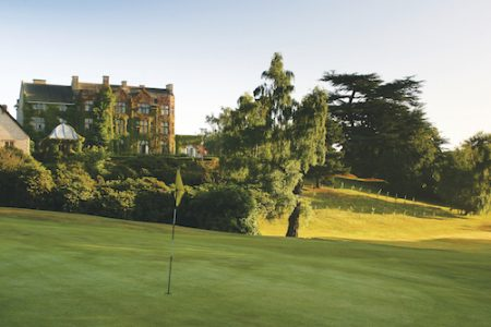 Pennyhill Park Hotel Grounds and Gardens, lush Greenland, Surrey