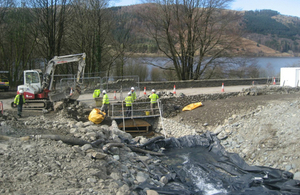 Repairs to bridge carrying a stream under the A591 are underway after damage from December storms