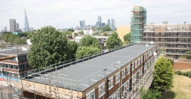 """SIKA PROVIDES TOTAL CORROSION MANAGEMENT AT £12.9M FOUR SQUARES RESTORATION Over the past four years, Southwark Council has invested £326 million into ensuring every one of its homes is warm, dry and safe (WDS) by 2016. At the Four Squares Estate in Bermondsey, South London, Sika has supplied a Total Corrosion Management solution – including over 60,000m2 of Sika Ferrogard 903+ corrosion inhibitor – during the £12.9 million regeneration of four housing blocks providing homes to almost 700 families. Built between 1971 and 1975, the Four Squares Estate features 691 homes across four near-identical seven-storey blocks – New Place Square, Lockwood Square, Marden Square and Layard Square. Following a structural inspection by consulting engineers Arup, all Four Squares housing blocks were deemed to be structurally sound but large areas of previously uncoated concrete were exhibiting reinforcement corrosion. Working closely with clients Keepmoat and Southwark Council, specialist contractor Barwin and Sika carried out on-site trials using Sika Ferrogard 903+ to demonstrate its ability to penetrate the concrete, reach the steel and restore it to a state of passivity. With the tests showing the system successfully encapsulated and protected the reinforcement, the corrosion inhibitor was included in Sika's comprehensive Total Corrosion Management specification that also comprised repair mortars and protective coatings. """"Due to its age and on-going exposure to the elements, all four buildings' concrete exteriors were suffering from corrosion, as well as stalactites, excessive sediment and efflorescence caused by leaking balconies,"""" said John Connell, Contracts Manager at Barwin. """"A two-stage jet wash was required to clean and prepare the previously uncoated substrate before the application of Sika Ferrogard 903+ mixed corrosion inhibitor across all external elements."""" Designed to extend the service life of aesthetically valuable concrete surfaces, more than 60,000m2 of Sika Fer"""