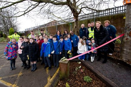 Travis Perkins Managed Services Funds Educational Nature Garden For Breckfield and North Everton Community Centre