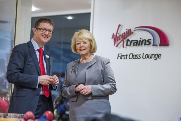 Hearts boss opens Virgin Trains' First Class Lounge in Edinburgh