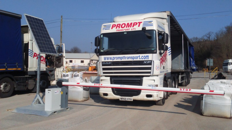 UK's first mobile, solar powered barrier and gate system