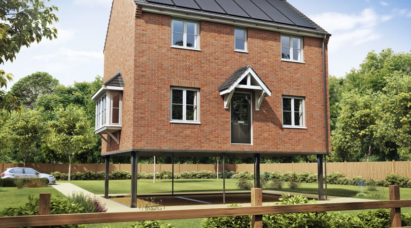 elevating house to combat flood risk
