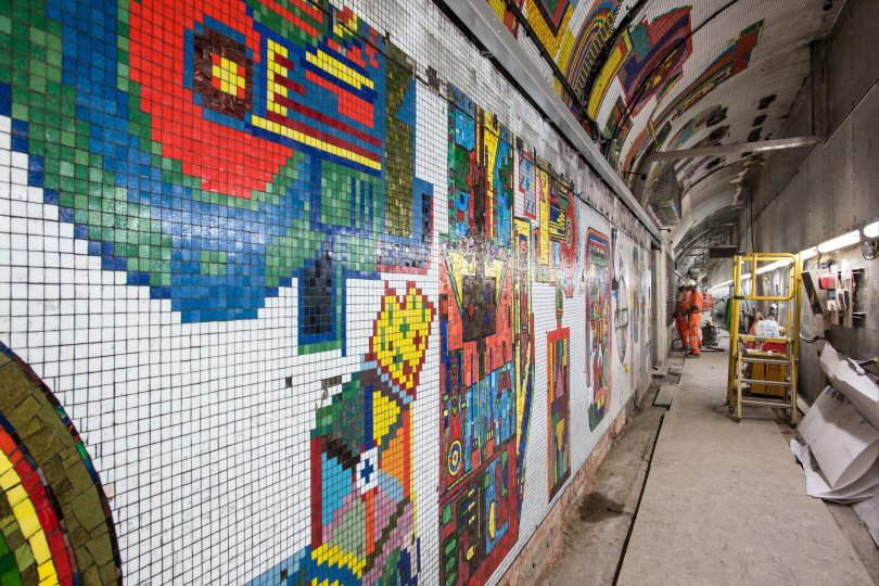 New life for Paolozzi mosaics as London Underground completes restoration work