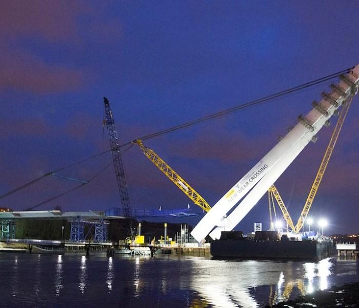 New Wear Crossing pylon complete