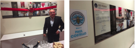 Mercure Manchester Piccadilly Hotel Unveils 'Paul's Wall' to Honour Long-Standing Employee