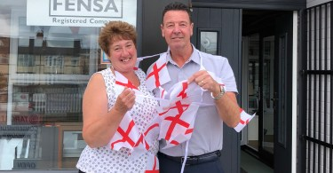 Stoke-on-Trent Window Company Raises Hundreds for Hospice by Backing England in World Cup