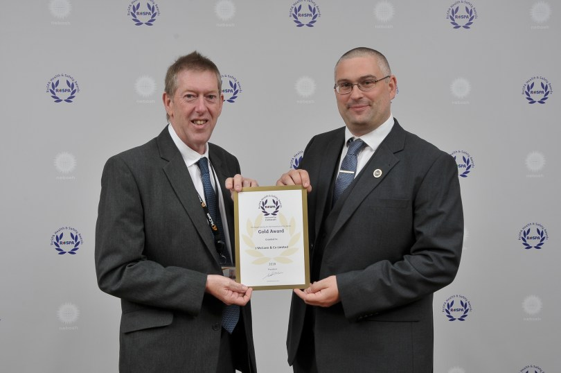 McCann Takes Home the Coveted RoSPA Gold Award at Glittering Ceremony in Birmingham