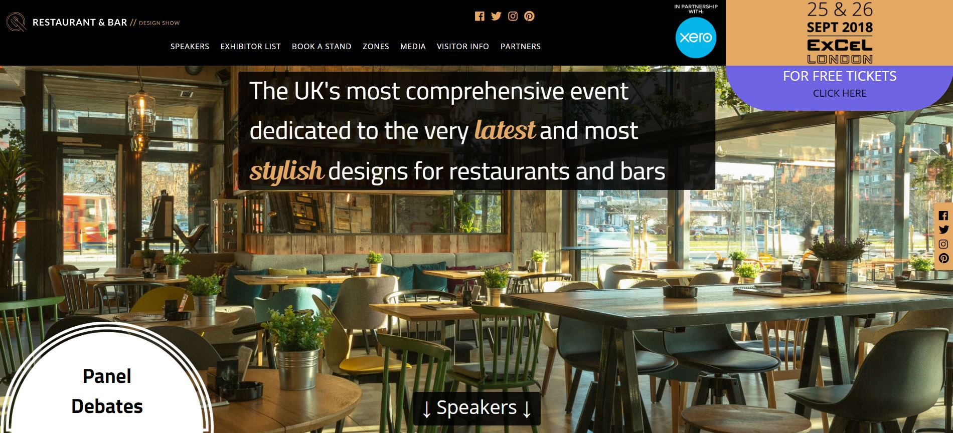 Restaurant bar design show launch new website premier