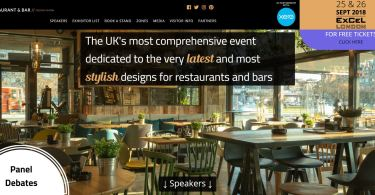 Restaurant & Bar Deisng Show Launch New Website