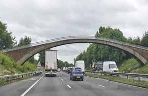 Bridge Bites the Dust for M6 Upgrade