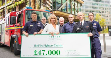 The Ivy Spinningfields raises £47,000 for Fire Fighters Charity